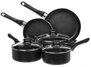 Amazon Basics Non Stick Cookware Set Pots and Pans