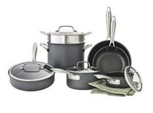 Cuisinart Dishwasher Safe Hard-Anodized 11-Piece Cookware Set
