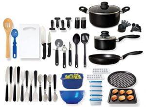 Gibson Home Back to Basics Nonstick Aluminum Cookware Set