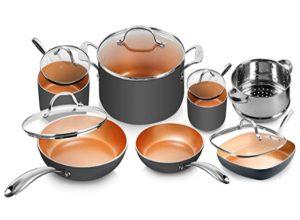 Gotham Steel Pots and Pans Set 12 Piece Cookware Set