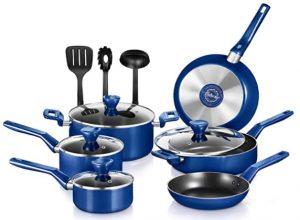 NutriChef 13 Pcs. Nonstick Kitchen Cookware