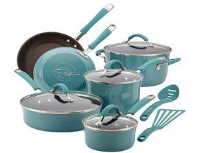 Rachael Ray Cucina Nonstick Cookware Pots and Pans Set, 12 Piece